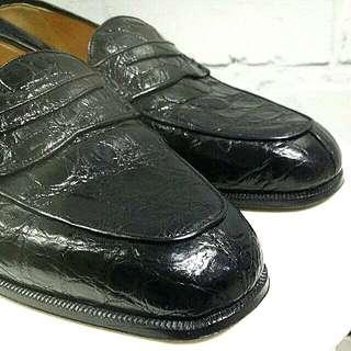 Christian Dior MONSIEUR Crocodile Skin Loafer Shoes