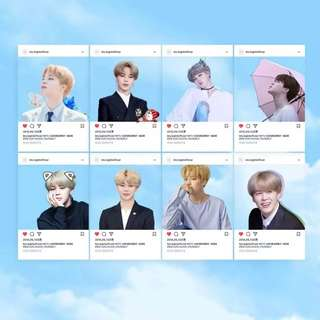 BTS JIMIN TRANSPARENT CARDS
