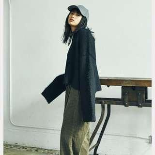 🚚 (特價360含運)日本_2way正反兩穿黑色毛衣
