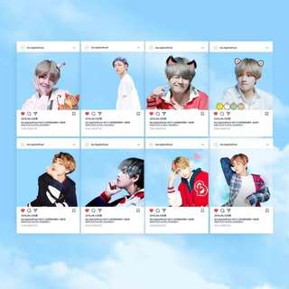 BTS V TRANSPARENT CARDS