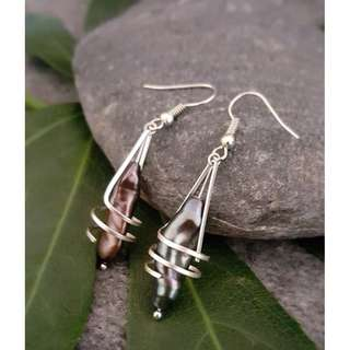 HANDMADE! Genuine Pearl Earrings 20084