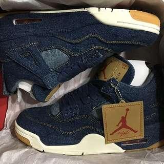 Levis Nike Air Jordan 4 Denim