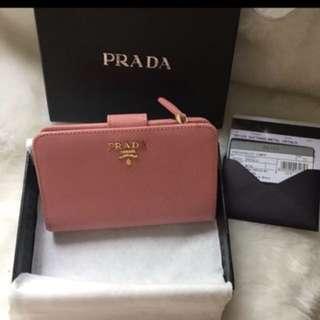 Authentic Prada Saffiano Wallet 1m1225