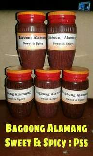 for sale sweet and spicy bagoong alamang luto na-P55 sukang pangasinan-P40 pure sukang iloko-P35