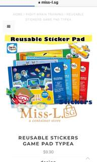 👣 REUSABLE STICKERS GAME PAD TYPEA