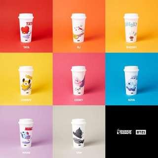 BTS BT21 x DUNKIN' DONUTS REUSABLE CUPS
