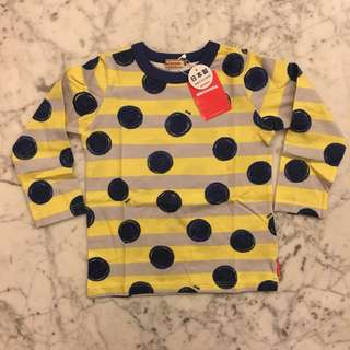 Mikihouse yellow spotty top