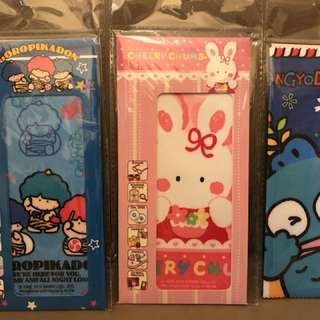 Sanrio水怪、Cherry Chum、雷公 眼鏡布