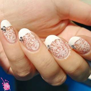 1 pc Chic Lace Pattern Nail Art Stamp Template Image Plate BORN PRETTY BP02
