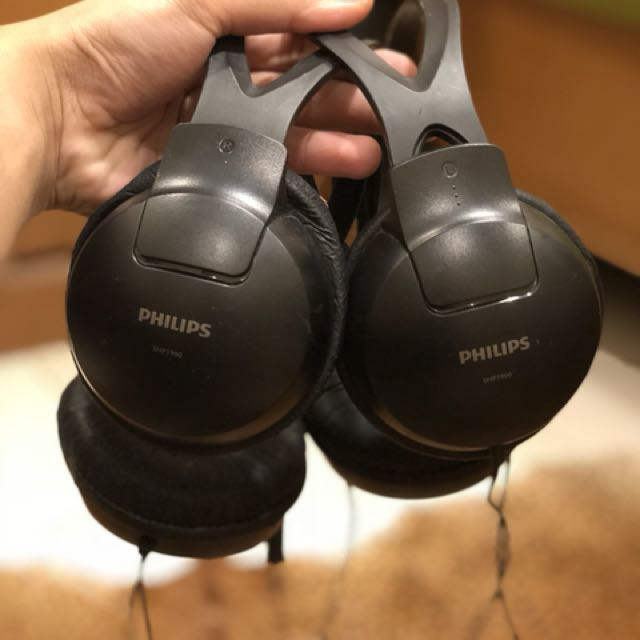 2 pcs of philips headset SHP1900