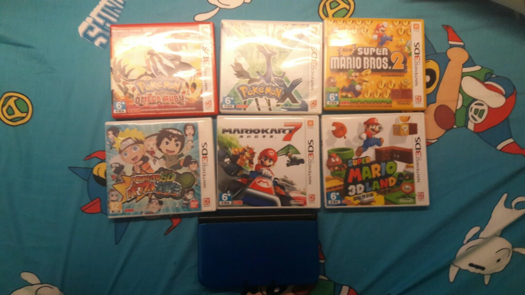 3ds+6實體games+4games in 3DS