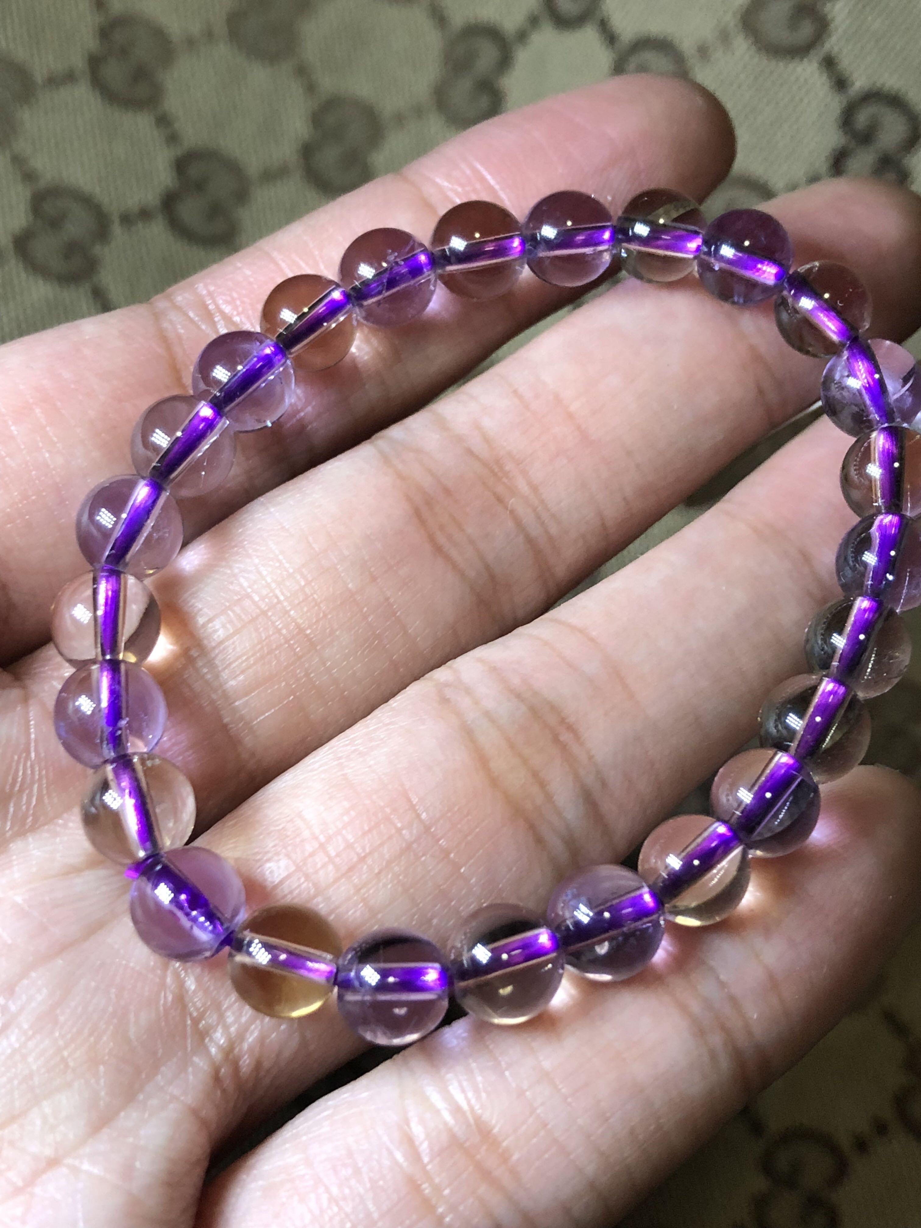 7mm Ametrine Bracelet 紫黄晶手串 Vintage Collectibles On Carou