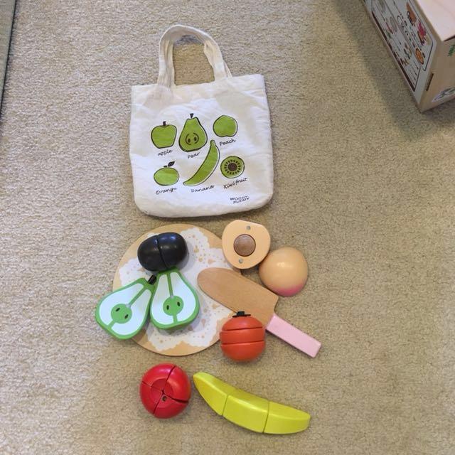 木製切切樂水果組