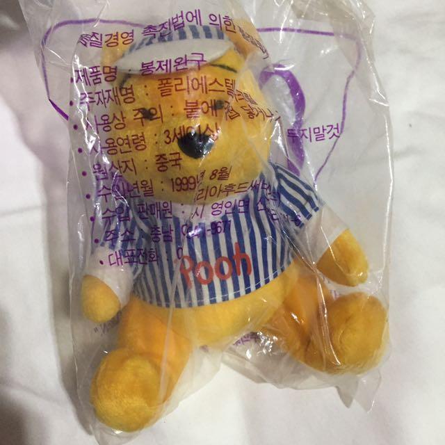 復古 1999年 麥當勞玩偶 小熊維尼 條紋 玩具