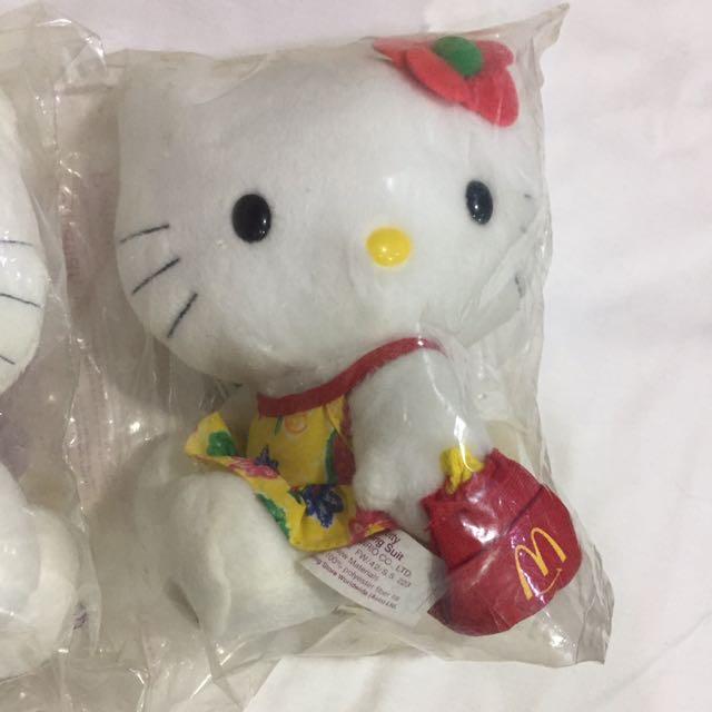 復古 1999年 麥當勞 hello kitty 海灘玩偶