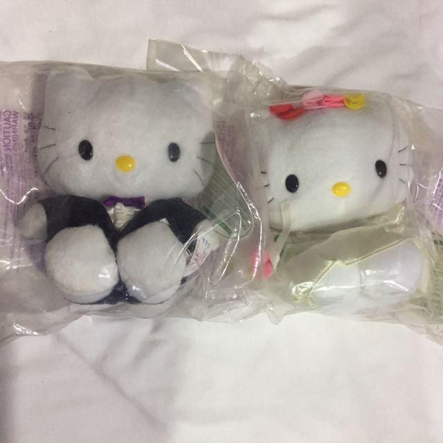 復古 1999年 麥當勞 hello kitty 新郎新娘 玩偶