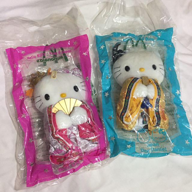 復古 2000年 麥當勞 hello kitty 情定京の都 玩具