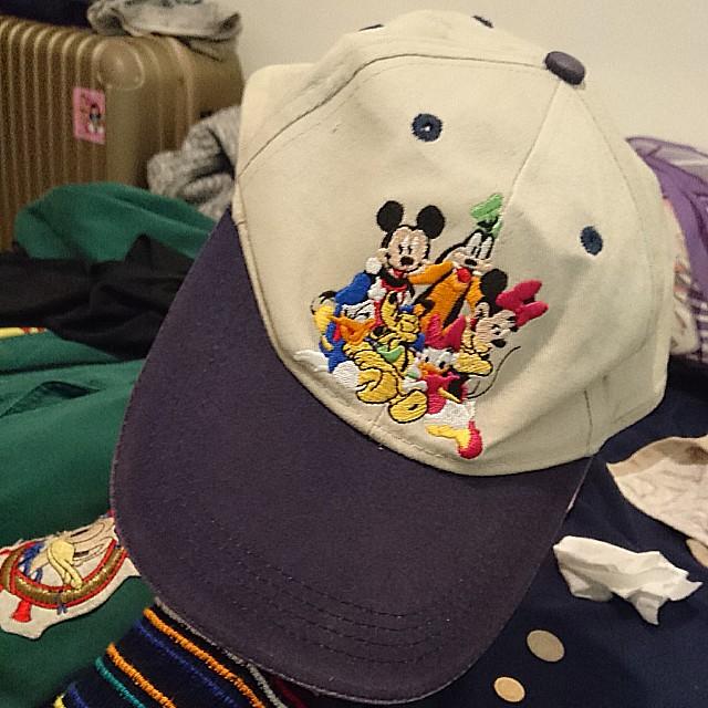 稀有 刺繡 古著 迪士尼 老帽