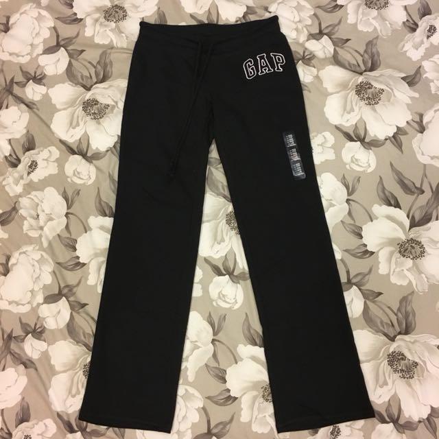 全新 日本購入 GAP 薄絨棉褲 黑色 XXS