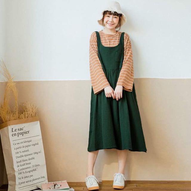 [全新] Queen shop無袖純色棉麻洋裝❤️
