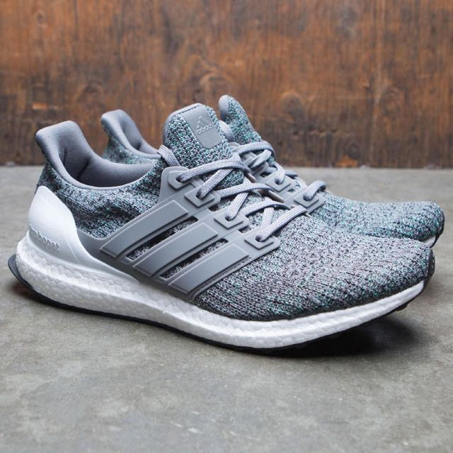 quality design 1ecf2 43bd5 Adidas Ultra Boost 4.0 Grey/Cool Mint Boost Shoe, Men's ...