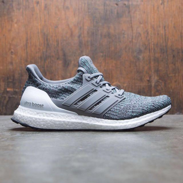 57512b81aac Adidas Ultra Boost 4.0 Grey Cool Mint Boost Shoe