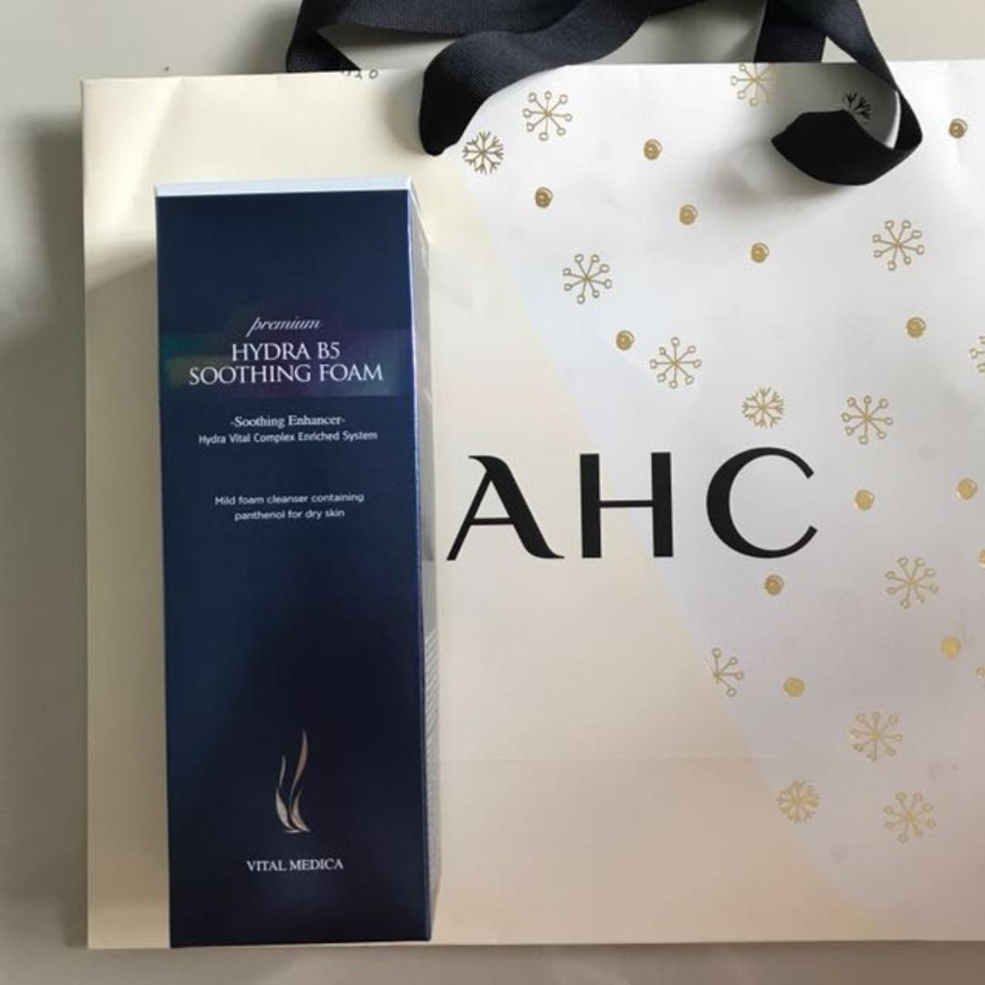 AHC premium hydra B5 soothing foam cleanser