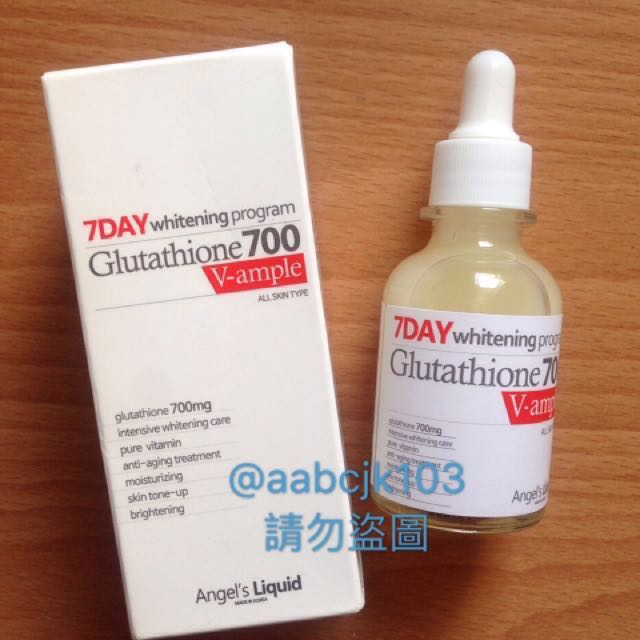 Angel's Liquid天使之淚穀胱甘肽白玉精華液30ml碧昂絲Beyonce推薦7 Day whitening program Glutathione 700  V-ample