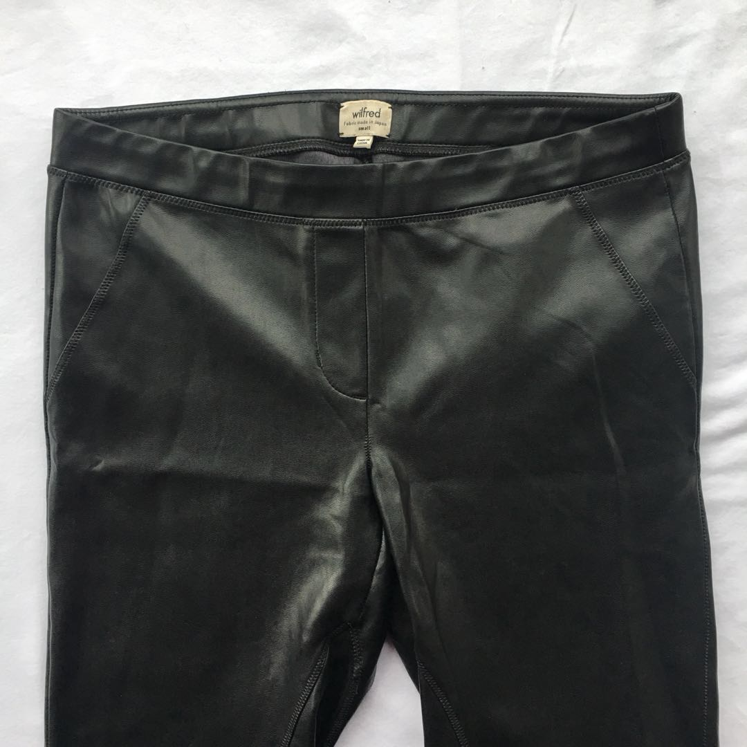ARITZIA LEATHER LEGGINGS BY WILFRED