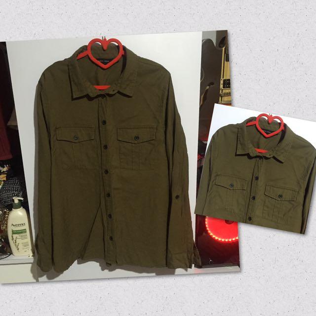 Army Green Polo 🍃