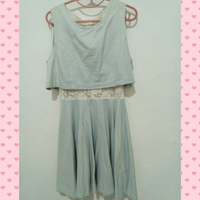 Baby Blue Denim Dress
