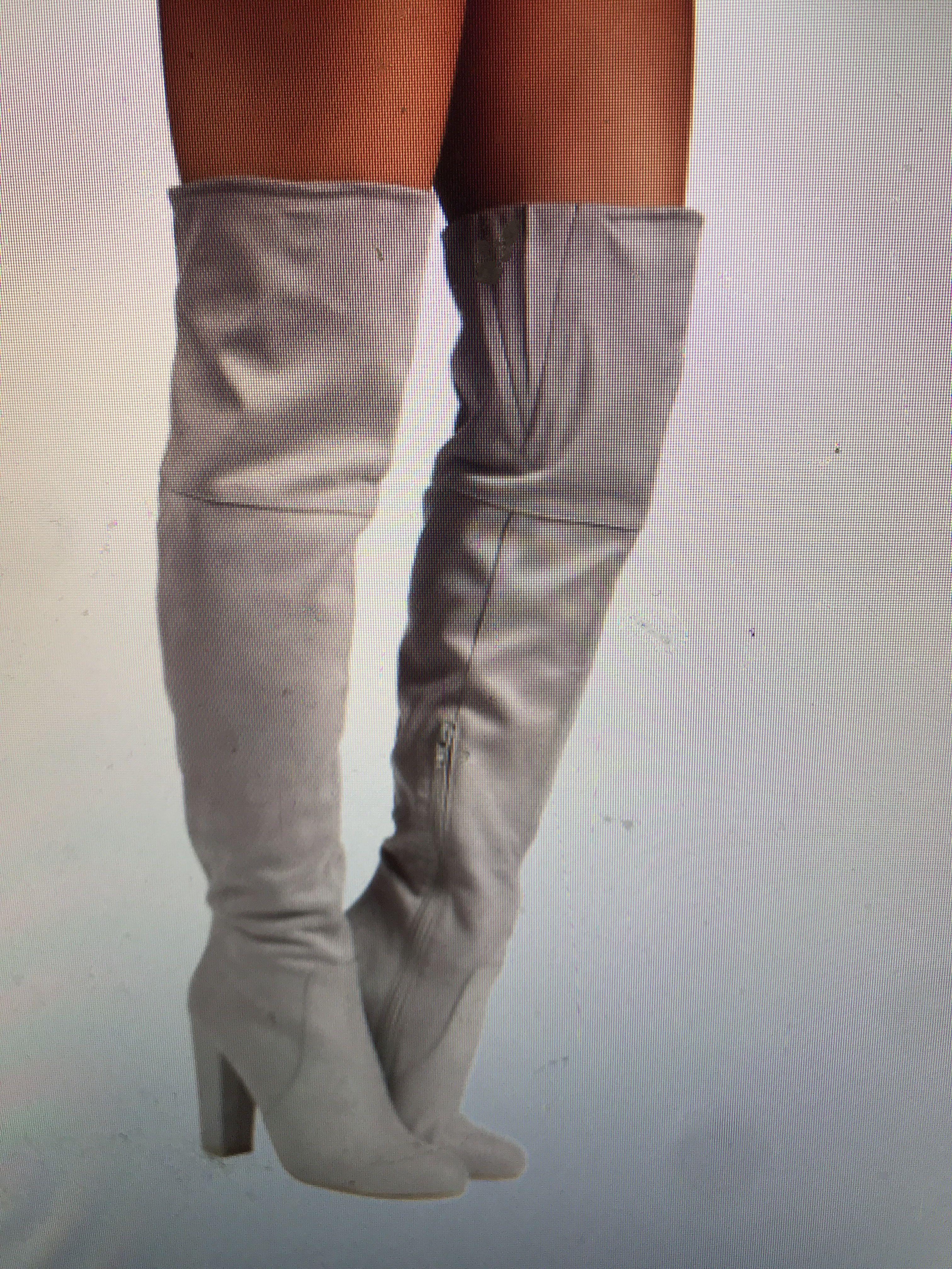 Billing Lara slate grey suede boots