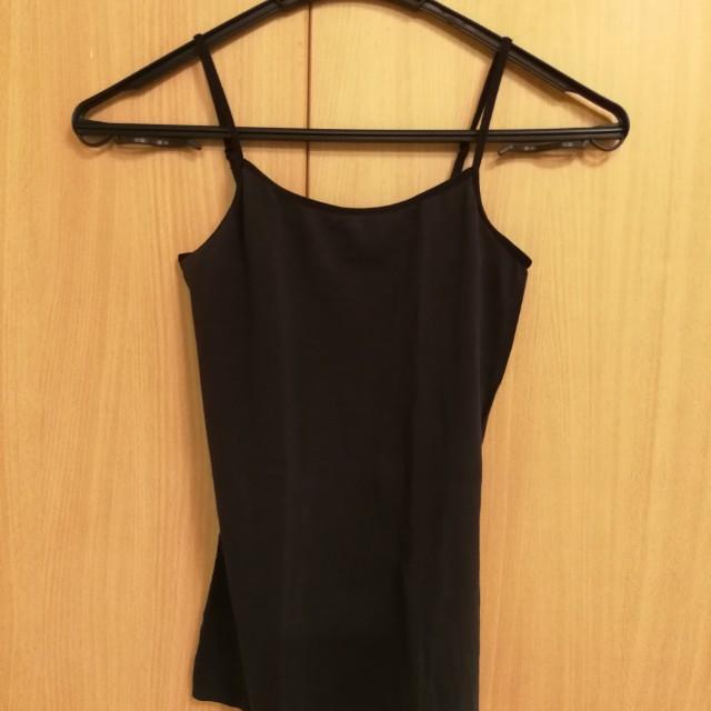 Black Tank Top Inner Wear