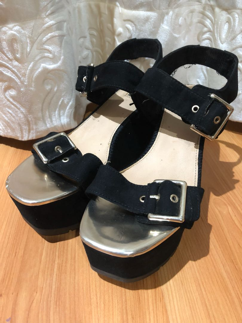 Black Wedges - Bershka
