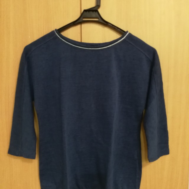 Blue top with Silver accent