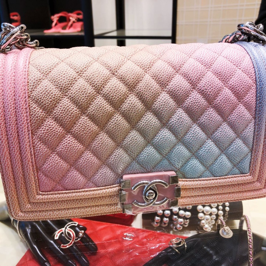 a7345e6c81e7 Boy Chanel Medium Rainbow Flap Bag, Luxury, Bags & Wallets on Carousell