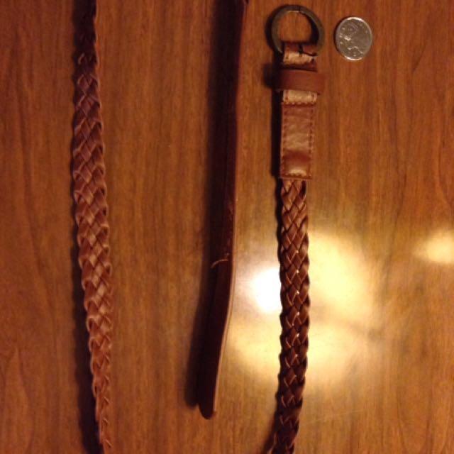 Brown Braided Belt