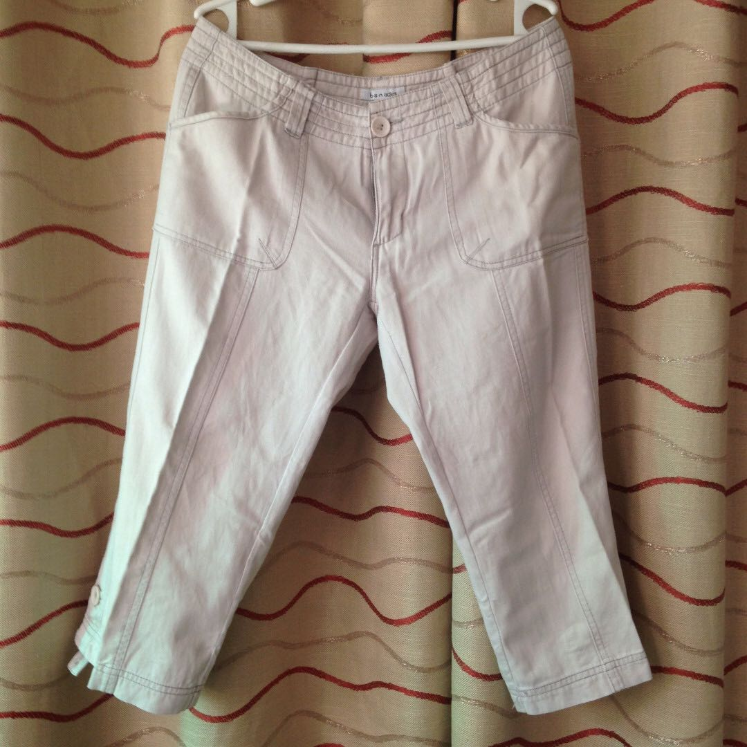Size 31 Cream Capri (Tokong) Pants