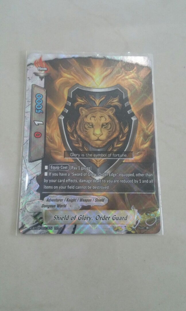 Buddyfight X Bt04 Shield Of Glory Order Guard Toys Games Board