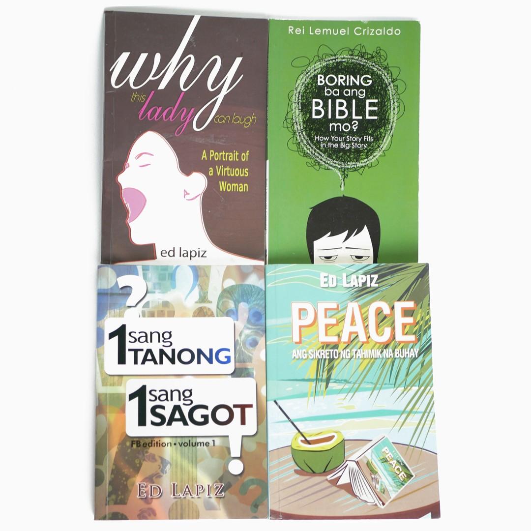 BUNDLE: Christian Books by Pinoy Authors (Ed Lapiz & Rei Lemuel Crizaldo)