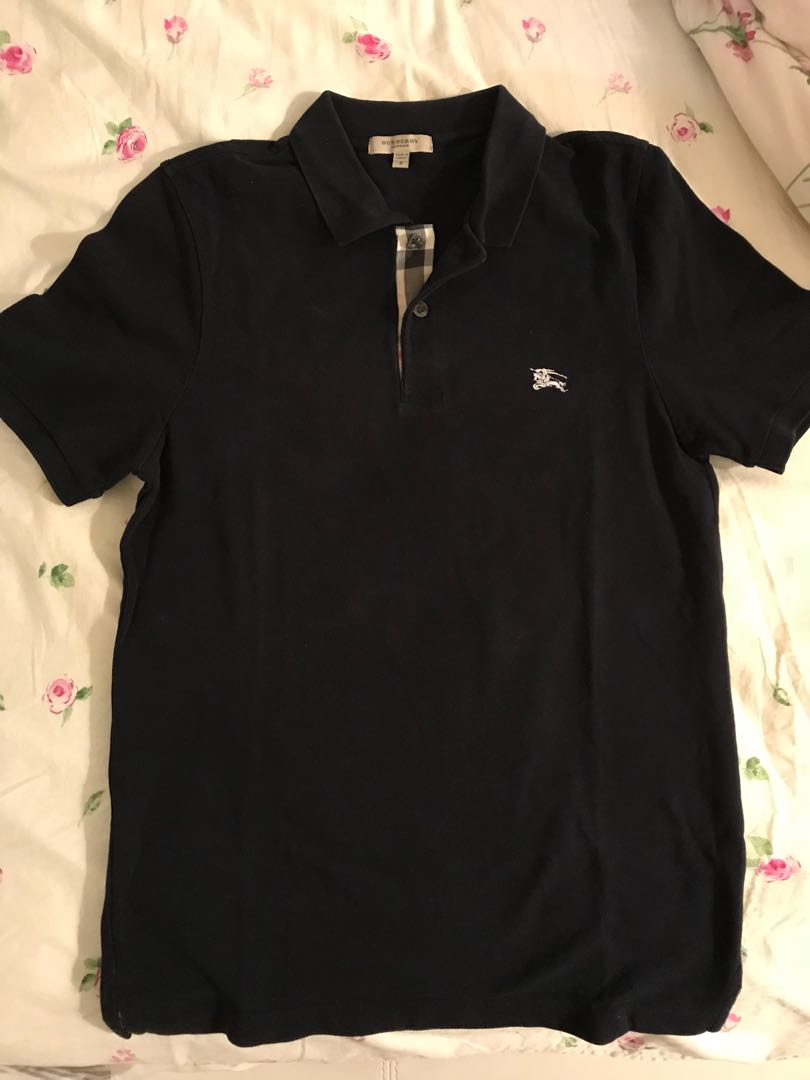 Burberry polo shirt navy
