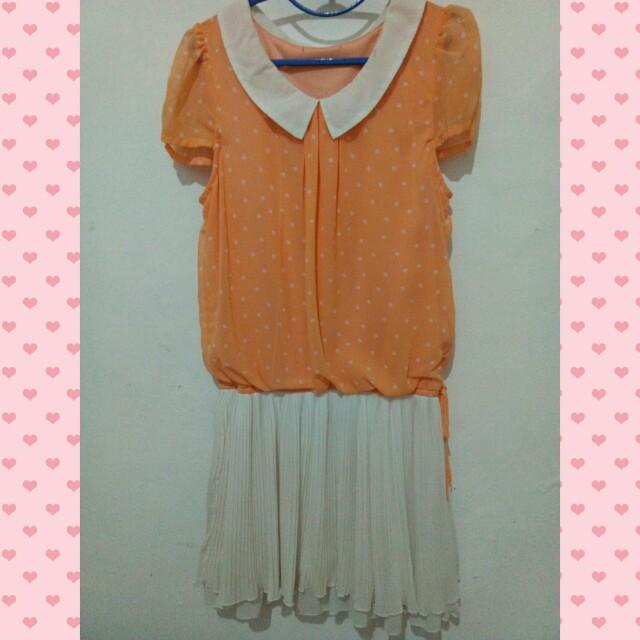 Calm Orange Dress