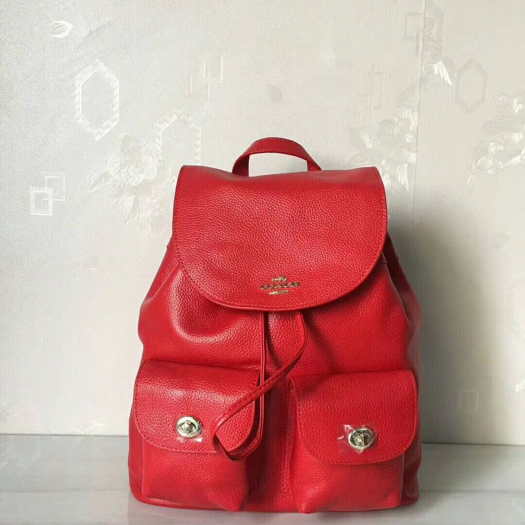 4eb83bc6f3ce Coach 37410 Leather Backpack Women s Red