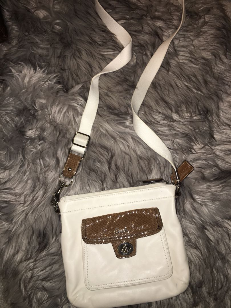 Coach cream satchel