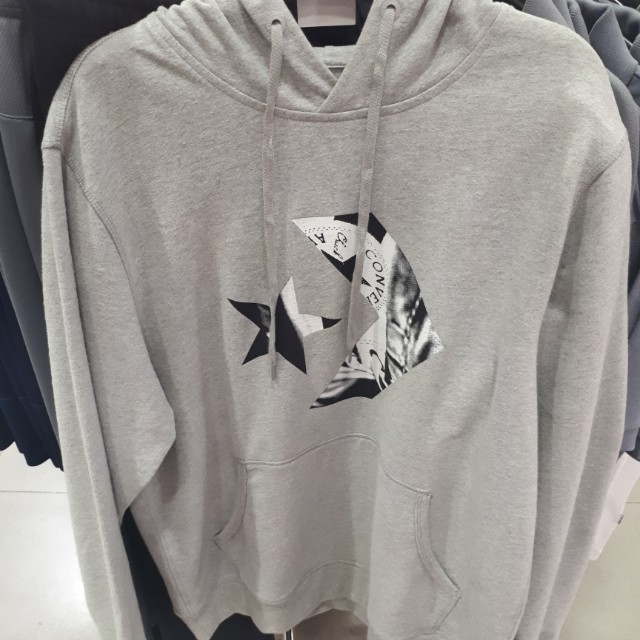 013d818cf251 Converse Cons Star Chevron Athletic Grey Pullover Hoodie