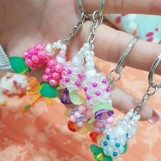 Cute adorable bell flowers keychain charms