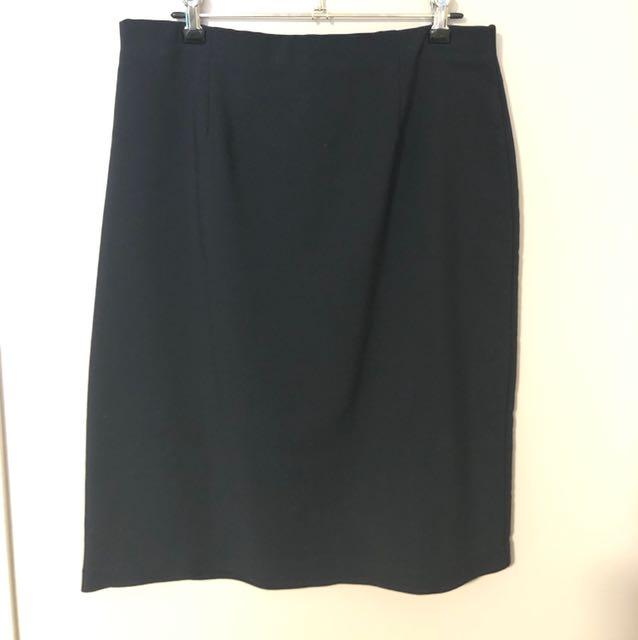 Dark Navy Business Skirt