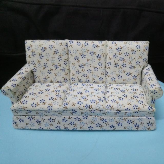 Doll house furniture - 3 seater sofa