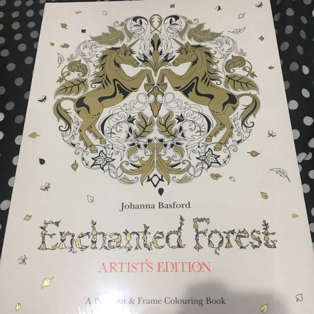 Enchanted Forest Coloring Book Design Craft Artwork On Carousell