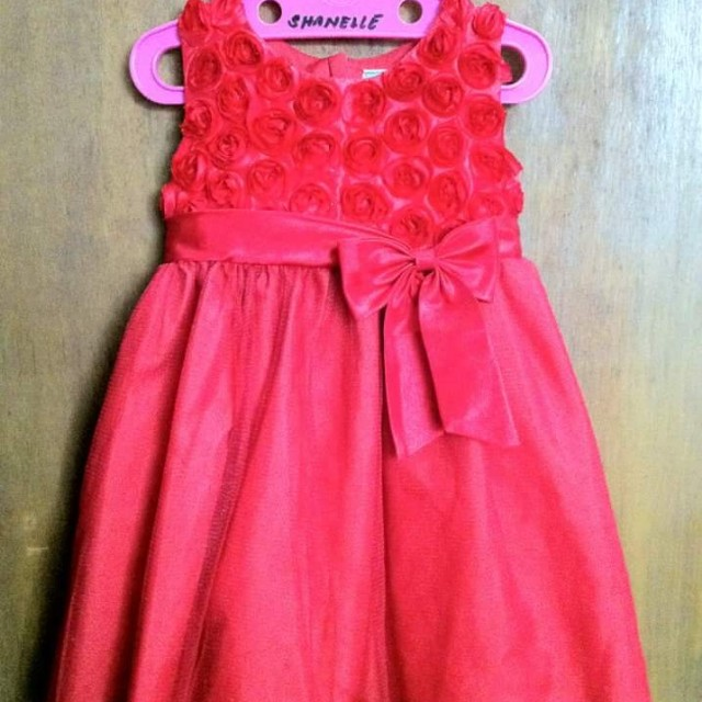 EUC Twilo Red Dress for 1 year old